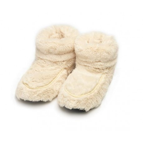 Boots chauffantes crème