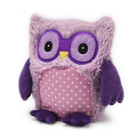 Bouillotte peluche Chouette violet