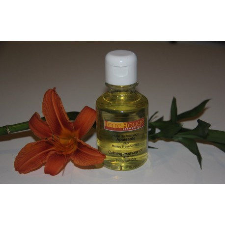 Huile de massage apaisante aux huiles essentielles