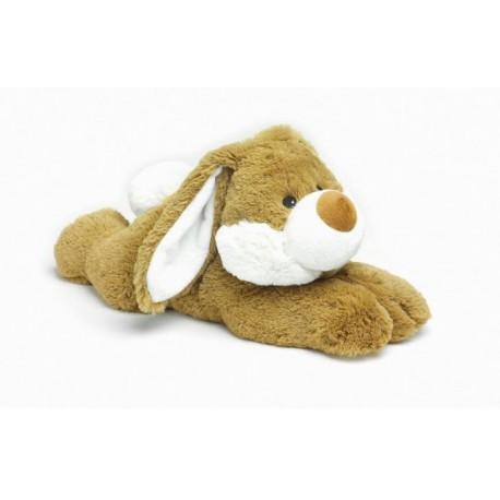 Bouillotte peluche chauffante Lapin allongé