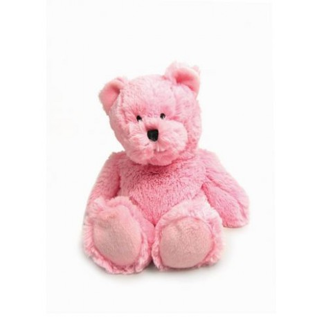 Bouillotte peluche Ours rose