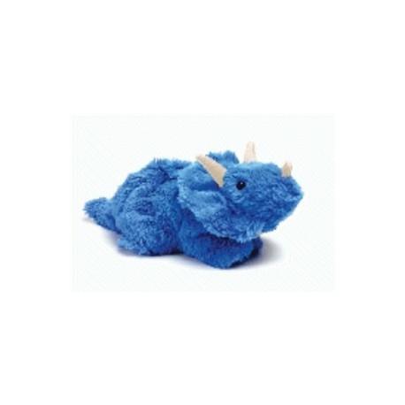 Bouillotte peluche Dinosaure bleu Tricératops