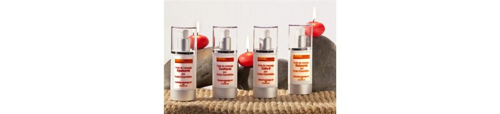Huiles de massage aux huiles essentielles