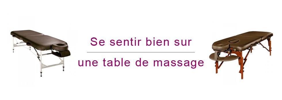 Se sentir bien sur une table de massage